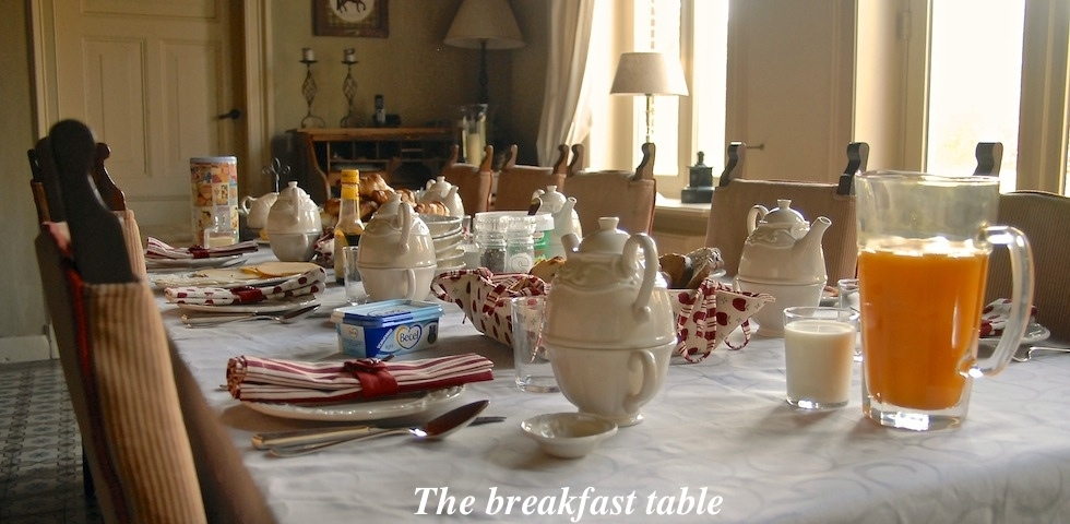Breakfast table B&B Hofstede de Rieke Smit